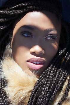 hair styles black hair scarf wrap braids box braids protective hairstyle 6123