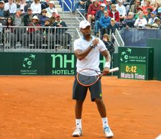 Donald Young at the 2014 Davis Cup tie USA - Great Britain in San Diego.