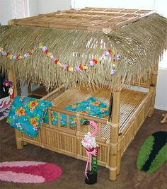 Tiki Hut Bamboo Bed (love- but it is discontinued. Tiki Decor, Surf Decor, Tiki Hut, Tiki Tiki, Surfer Room, Surf Bedroom, Tropical Bedrooms, Tiki Lounge, Vintage Tiki