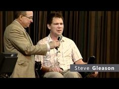Steve Gleason delivers the keynote address at the 2012 Brain Health Fair