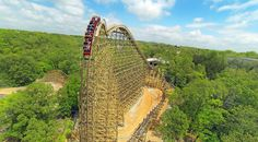 Outlaw Run at Silver Dollar City, Branson, Mo. I'm addicted 2 roller coasters and Silver Dollar City 😍 New Roller Coaster, Best Roller Coasters, Cool Coasters, Wooden Coasters, Branson Vacation, Parc A Theme, Best Amusement Parks, Silver Dollar City, Best Weekend Getaways