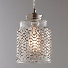 Check out Metal Honeycomb Glass Pendant from Shades of Light