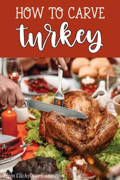 Thanksgiving dinner: How to carve turkey, step-by-step, plus illustrations - #thanksgiving #thanksgivingturkey #turkeyhowto #turkeycarving #howtocarve #thanksgivingtips #vintage #vintagethanksgiving #christmasdinner #clickamericana