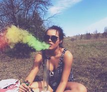 Inspiring picture bong, cannibis, girl, highpipe, hippy. Resolution: 500x375 px. Find the picture to your taste!