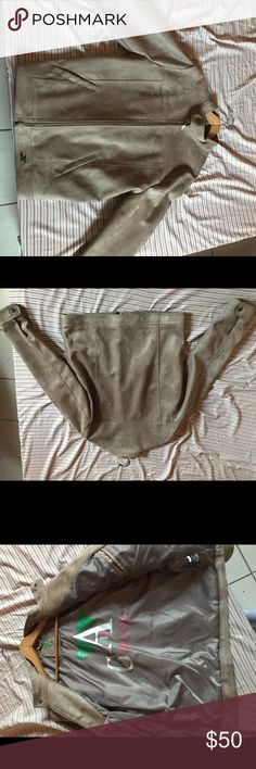 GA MILANO SUEDE JACKET GA Milano made in Italy 100% authentic!! Light brown only worn once brand new no tags ! GA Milano Jackets & Coats