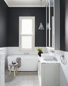 What a gorgeously styled bathroom. via @dulux  #scandinavian #bathroom #simplicity #minimalist #homedecor