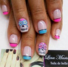 Manicure Y Pedicure, Mani Pedi, Nail Art Diy, Diy Nails, Cure Nails, Fabulous Nails, Beautiful Nail Art, Nail Arts, Halloween Nails
