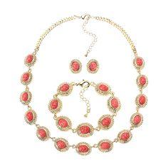JASSY® Bohemian Women Jewelry Set Turquoise Bead Bracelet Necklace Earrings
