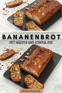 Ein Bananenbrot mit Nüssen und Schokolade ganz einfach selber machen. Es gelingt ganz einfach im Handumdrehen und schmeckt verdammt lecker.