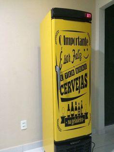 Envelopamento de Cervejeira personalizado.