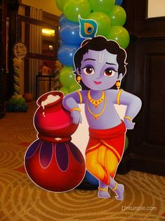 Buy with butter pots poster (Posters / Cutouts). Shaped foam board / art board cutouts that are sturdy and reusable. Krishna Tattoo, Krishna Drawing, Krishna Painting, Little Krishna, Cute Krishna, Lord Krishna Wallpapers, Radha Krishna Wallpaper, Lord Krishna Images, Radha Krishna Images