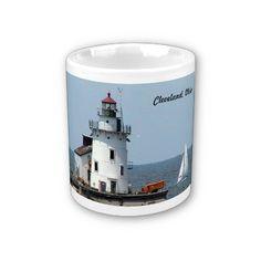 Cleveland Lighthouse (Summer)Mug by WestCreek http://www.zazzle.com/cleveland_lighthouse_summer_mug-168746596613489993?rf=238232710640538046