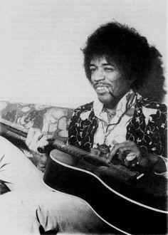 Guitar God Of Psychedelica / Jimi Hendrix.  (Love the look on his face.)