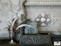 Layers and layers of patina in soft greys ~ FARRAGOZ ~ Online Courses in the Art of Patina