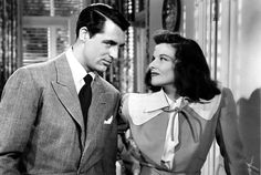 Cary Grant as C. Dexter Haven and Katharine Hepburn as Tracy Lord in The Philadelphia Story Katharine Hepburn, Audrey Hepburn, Cary Grant, The Philadelphia Story, Old Hollywood, Classic Hollywood, Hollywood Couples, Hollywood Cinema, Hollywood Glamour