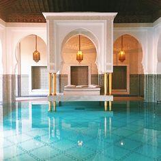 Beautiful Indoor Pools to Inspire Serious Winter Wanderlust to Your Copy Luxury Swimming Pools, Luxury Pools, Swimming Pool Designs, Dream Pools, Luxury Resorts, Marrakesh, Mamounia Marrakech, Marrakech Morocco, Indoor Pools