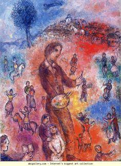 Marc Chagall. Artist at a Festival. Olga's Gallery.