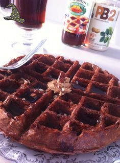 Chocolate and Vanilla Protein Waffles - by Bethany - Protein Pow