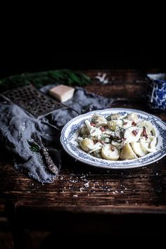 Warm potatoes, crunchy fennel and crispy bacon, all lathered with a mayonnaise, dill and caper dressing, a wonderful tribute to the change-over seasons! Anisa Sabet | The Macadames | Food Styling | Food Photography | Props | Moody | Food Blogger | Recipes