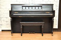 Distressed ebony satin. #piano #refinish #DIY #pianorevivalproject #paintedpiano
