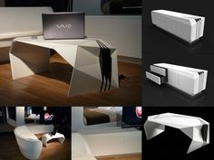 Faceted furniture in the Ideal home... Home of the future!