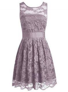 Floral Lace Dress Bridesmaids Dress Short Prom Dress - OASAP.com