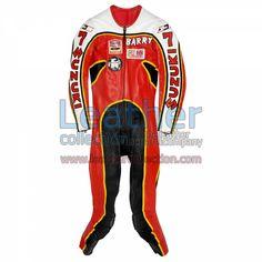 Barry Sheene Suzuki GP 1976 Leathers for $719.20 - https://www.leathercollection.com/en-we/barry-sheene-suzuki-gp-1976-leathers.html