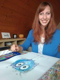 Lerne Malen mit dem kostenlosen Tutorial von Clarissa Hagenmeyer: Der Happy Bird Minikurs weckt deine Kreativität neu! #malen #malkurs #kreativkurs #diy #kreativität