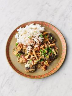 An easy mushroom stroganoff recipe from Jamie Oliver that's on the table in under 30 minutes. It's a brilliant weeknight winner with perfect fluffy rice.