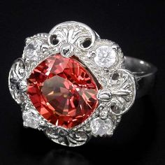 padparadscha sapphire in sterling silver