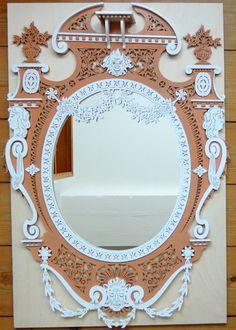 Czar's mirror, scroll saw fretwork pattern