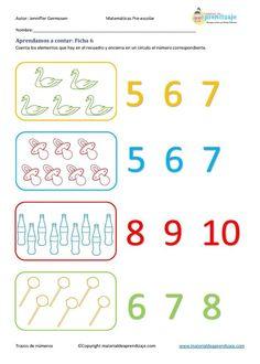 Aprender a contar: Ficha 6
