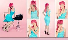 Fun Pinup Hair using Temporary Pink Hair Dye