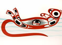 Aboriginal Totems of the Northwest Pacific Coast~ Otter: trusting, inquisitive, bright, loyal friendship