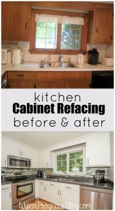 Ordinaire 37 Brilliant DIY Kitchen Makeover Ideas. Kitchen MakeoversKitchen Cabinet  RefacingRefacing ...