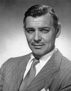 Clark Gable (1901-1960), who was awarded the Air Medal and the Distinguished Flying Cross for his actions as an observer-gunner on B-17 Flying Fortresses in combat missions over Europe. He received an Academy Award nomination for his role as Rhett Butler in GONE WITH THE WIND (1939).
