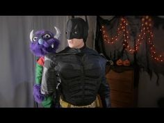 "Batman Fit Finder Halloween Costume - Funny Puppet Mascot video starring ""Monster"""