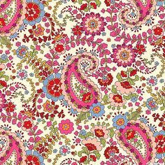 eQuilter Regent Street - Paisley Afternoon - Cream - COTTON LAWN