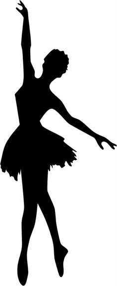 Free for personal use Ballet Silhouette Images of your choice Ballerina Silhouette, Dance Silhouette, Silhouette Images, Stencils, Balerina, Crayon Art, Illustration, Art Plastique, Paper Art