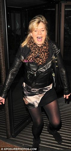 One day she'll fly away: Fern Britton gets caught in the wind as she . Fern Britton, In Pantyhose, Sexy Curves, Real Women, Ferns, Sexy Outfits, Goth, Celebs, Image