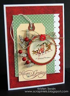 Christmas scrapbook layout embellishment inspiration tags