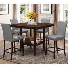 Buy brand name furniture at discounted prices. Over items in stock with free in home delivery Nationwide! Why pay more for Ashley Furniture, AICO Furniture, Broyhill, Pulaski, Coaster Furniture and many other top brands? Ashley Furniture Sale, Furniture Near Me, Bar Furniture, Leather Furniture, Counter Height Kitchen Table, Kitchen Tables, Kitchen Ideas, Black Dining Room Furniture, Dining Rooms