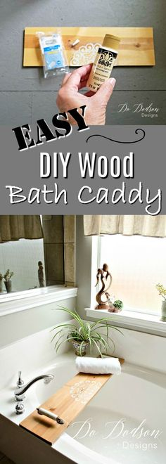 Easy DIY wooden bath