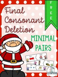 This Final Consonant Deletion Freebie contains 3 pages of pairs of final consonant deletion pairs of words (15 in total), to be used in your Speech and Language Therapy sessions however you desire.Suggested Instructions: Place a pair of words in front of the child.