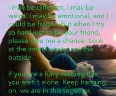 To every one who reads these comments I know there are people that hate on furries and blogs about furries well if u don't like them don't look for the pics or just ignore them   For the furries out there u aren't alone and I got all yo furries backs in the long run so peace between haters and lovers people ....... Peace