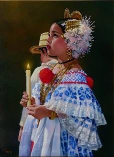 Obra de Iván Delgado Panama Hispanic Art, Countries In Central America, Costumes Around The World, Kids Study, My Heritage, Folk Costume, Cool Costumes, Caribbean, Arts And Crafts