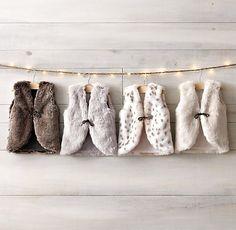 Luxe Faux Fur Vest for kids