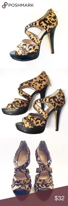 Vince Camuto / MELVA Cheetah Platforms / Sz 10 Vince Camuto / MELVA Cheetah Platforms / Sz 10 / Pony hair / GORGEOUS + in near new condition / Happy Shopping ❤️ Vince Camuto Shoes Platforms