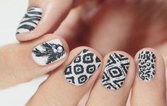 Diseños de uñas pinceladas manos y pies, diseños de uñas pinceladas chinas.   #diseñatusuñas #instanails #uñasfinas