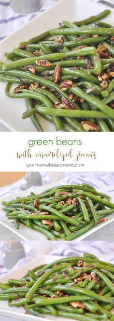 Green Beans with Caramelized Pecans C
